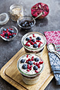 Fresh yogurt with blueberries, blueberry jam, pomegranate seeds and chia - SARF03120
