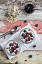 Fresh yogurt with blueberries, pomegranate seeds and chia - SARF03126