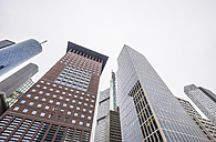 Germany, Frankfurt, facades of skyscrapers at financial district - PVC00954