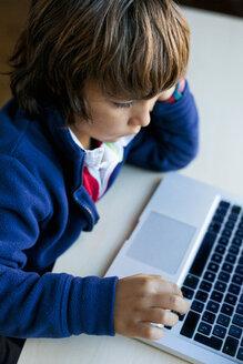 Little boy using laptop - VABF01056