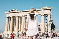 Greece, Athens, people visiting The Parthenon temple on the Acropolis - GEM01400