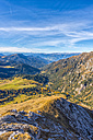 Italy, South Tyrol, Funes Valley, Odle group in autumn - LOMF00490
