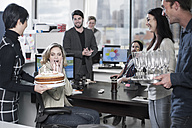 Birthday office suprise with cake and candles - ZEF12524