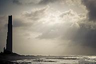 Spain, Tenerife, view to silhouette of Punta del Hidalgo - SIPF01373