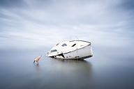 France, Occitanie, Leucate, wrecked ship - XCF00129