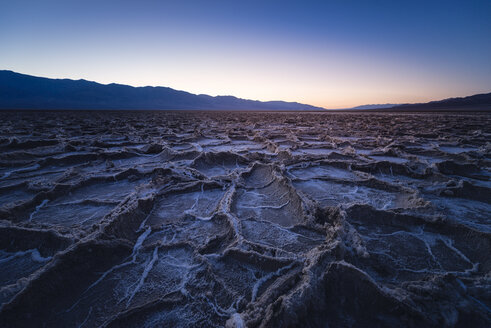 USA, California, Death Valley, Badwater Basin at twilight - EPF00308