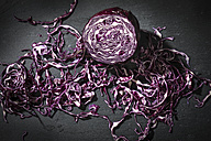 Grated red cabbage on slate - MAEF12118