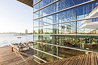 Netherlands, Amsterdam, Muziekgebouw aan 't IJ, outdoor cafe - WD03900