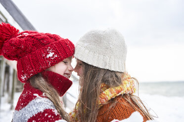 Sisters having fun in winter - FSF00755
