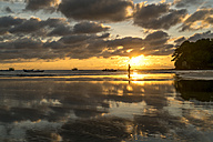 Myanmar, sunset at beach of Ngwesaung - PCF00326