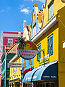 Curacao, Willemstad, Punda, colourful shopping street - AM05249