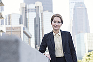 Portrait of confident businesswoman - WESTF22591