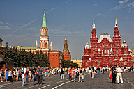 Russia, Moscow, Red Square, State Historical Museum and Nikolskaya Tower - DSG01446