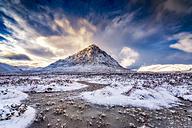 UK, Scotland, Glencoe, Buachaille Etive Mor in winter - SMAF00665