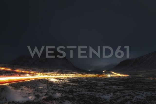 UK, Scotland, Rannoch Moor, Light Trails - SMAF00677