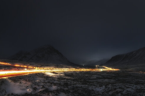 UK, Scotland, Rannoch Moor, Light Trails - SMAF00677