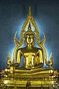 Thailand, Bangkok, Buddha statue Phra Phuttha Chinnarat at Wat Benchamabophit - PCF00331