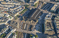Germany, Hamburg, aerial view of central station - PVCF00971