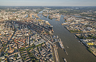 Germany, Hamburg, aerial view of the city - PVCF00992