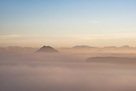 Germany, Baden-Wuerttemberg, Constance district, Hegau, volcanic landscape and fog - ELF01830