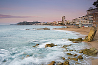 Spain, Costa Brava, Lloret de Mar,  beach at sunrise - SKCF00252