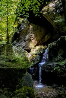 Germany, Saxony, Elbe Sandstone Mountains, Amsel falls - LMF00598