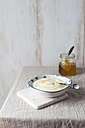 Bowl of natural yoghurt with honey - MYF01879