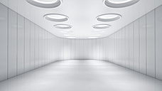 Empty white room with skyholes, 3D Rendering - UWF01118