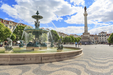 Portugal, Lisbon, view to Rossio Square - VTF00586