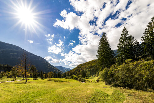 Slovenia, Bovec, Triglav National Park, Kanin Valley in autumn - CSTF01255