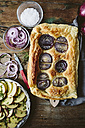 Baked Focaccia with red onions and rosemary - GIOF01943