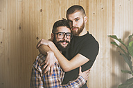 Portrait of young gay couple - RTBF00680