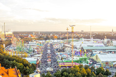 Germany, Munich, view to Oktoberfest from above - MMAF00055