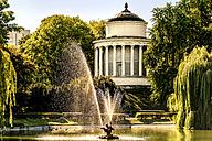 Poland, Warsaw, reservoir in historical Saxon Garden - CSTF01267