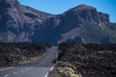 Spain, Tenerife, empty road in El Teide region - SIPF01427