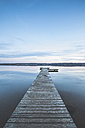 Germany, Saxony-Anhalt, jetty at Lake Bergwitz - ASCF00723