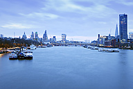 UK, London, skyline with River Thames at dawn - BRF01432