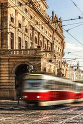 Czechia, Prague, driving tramway - CSTF01297