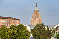 Latvia, Riga, central market and Academy of sciences building - CSTF01317