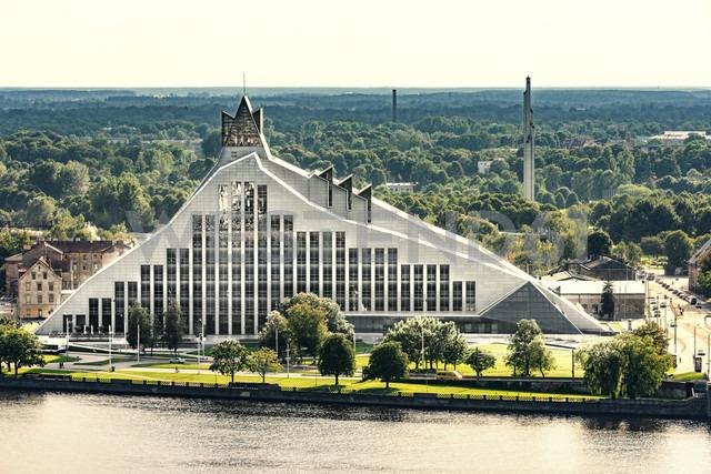 Latvia, Riga, national library at Daugava River - CST01332