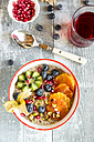 Superfood breakfast with porridge, amaranth, various fruits and pistachios - SARF03230