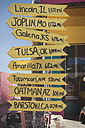USA, Arizona, Seligman, signpost at Route 66 - EPF00376