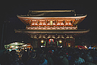 Japan, Tokyo, Asakusa, crowd of people at Senso-ji temple at New Year's Eve - KEB00525
