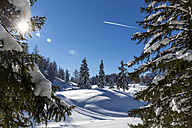 Austria, St Johann im Pongau, snow-covered winter landscape - MABF00448