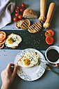 Breakfast with eggs, coffee and tomatoes - GIOF02153