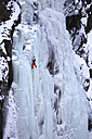 Norway, Telemark, Rjukan, ice climber in an icefall - DSG01541