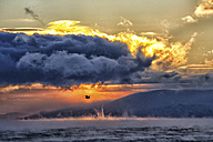 Arctic Ocean, clouds above the Barents Sea at twilight - DSGF01547