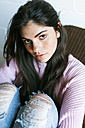 Portrait of a beautiful darkhaired young woman - VABF01243