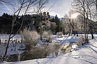 Germany, Bavaria, Fischen im Allgaeu, winter landscape - WIF03410
