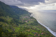 Portugal, Madeira, view of Arco de Sao Jorge on the north coast - RJF00660